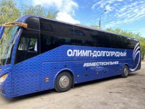 Оклейка автобуса.